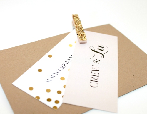 card and clothespin