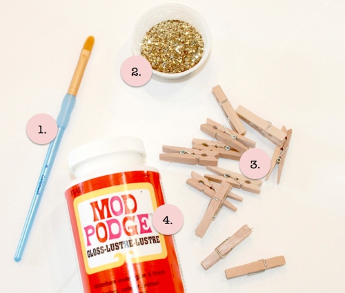 tools glitter clothespin